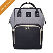 Diaper Bag Backpack Large capacity baby Nappy changing bags for Mom Daddy, Multi-functional with waterproof fabric by YAAGLE