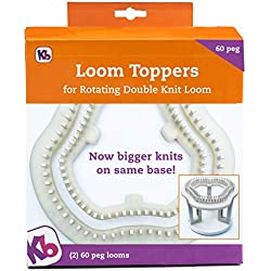 Authentic Knitting Board KB8360 60 Peg Loom Toppers, use with Rotating