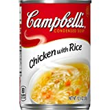 chicken and rice soup - Campbell's Condensed Soup, Chicken with Rice, 10.5 Ounce (Pack of 12)