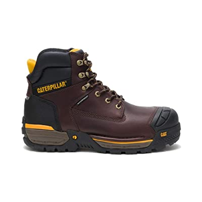 "Caterpillar Men's Excavator LT 6"" Waterproof Composite Toe Full Grain Leather, Espresso, Size 11 Wide US 