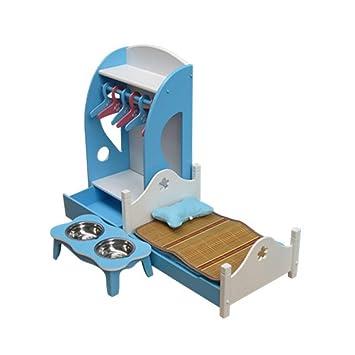 QNMM Camas para Mascotas Muebles de Perrera de Madera Moda Perro Gato Camas Suaves Cachorros Cama Perrera Muebles para Perros,Blue: Amazon.es: Deportes y ...