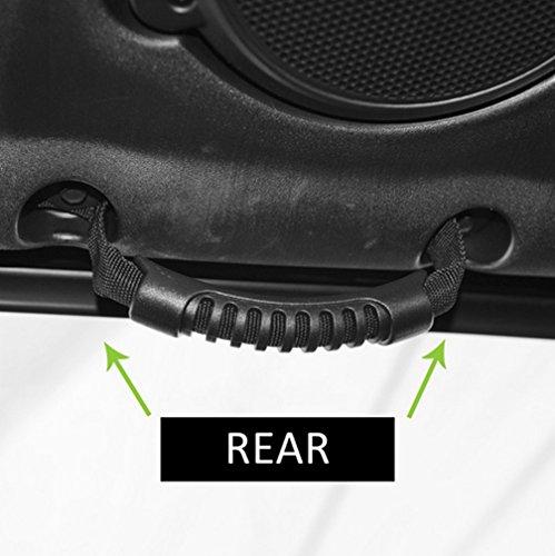 Opall 4 X Windshield Pillar Rear Seat Grab Handles Grip Handle handlebar for Jeep Wrangler YJ TJ JK JKU Sports Sahara Freedom Rubicon X /& Unlimited X 2//4 door Roll Bar 1995-2016