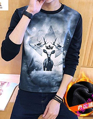 Estudiantes Coat Impresion Base Código Juventud C Camiseta Venado Manga Grande Larga Cultivar 3d Termica Yebao Suéter De Los Cachemir Y qvwvpA