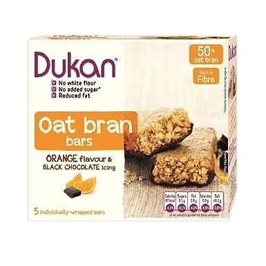 Dukan Barra de chocolate con cobertura de chocolate sabor a salvado de avena Naranja: Amazon.es: Alimentación y bebidas