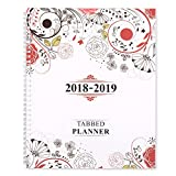 Shiplies August 2018 - June 2019 Daily, Weekly and Monthly Tabbed Planner Academic Planner for Men, Women, Teachers and Student 8.5'' x 11'' with Note Pages