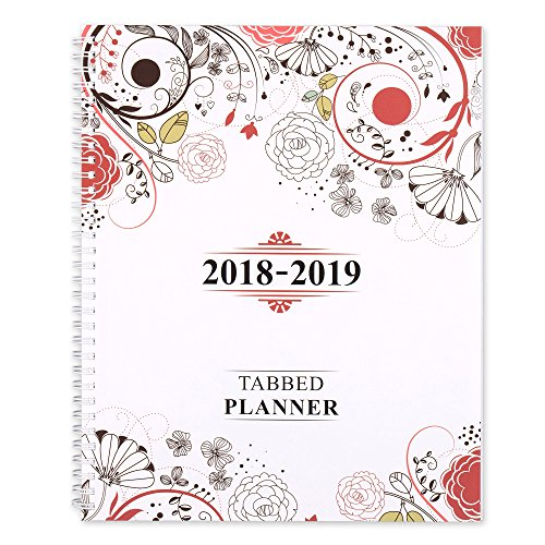 "Shiplies August 2018 - June 2019 Daily, Weekly and Monthly Academic Tabbed Planner, Personal Organizer for Men, Women, Teachers and Student 8.5"" x 11"" with Note Pages"