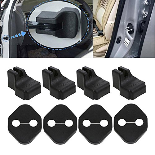 RUNMIND 4 Pair Car Protection Door Lock Cover Stopper For Skoda Octavia A7 Fabia Rapid Superb