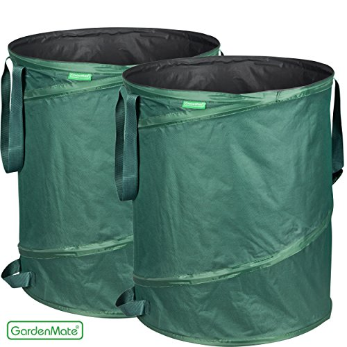GardenMate 2-Pack 43 Gallons Pop-Up Garden Waste Bags - Collapsible spring bucket - Collapsible Container by GardenMate (Image #5)