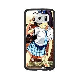 Generic for Samsung Galaxy S6 Cell Phone Case Black Hibiki Ganaha Idolmaster Custom MJUYMJGYT1376
