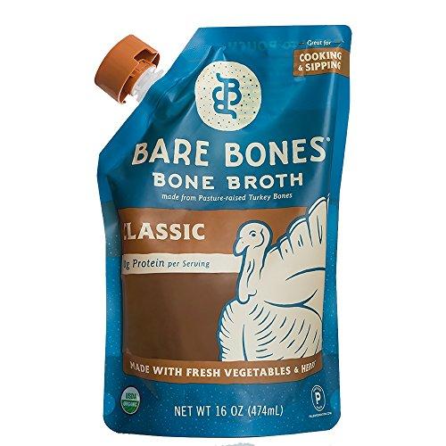 (Organic Turkey Bone Broth by Bare Bones - Organic, Turkey Bone Broth, Protein/Collagen-rich, 16 oz (6-pack) )