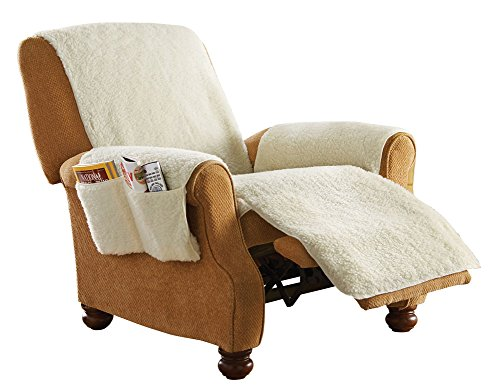 Protective Fleece Recliner Furniture Natural