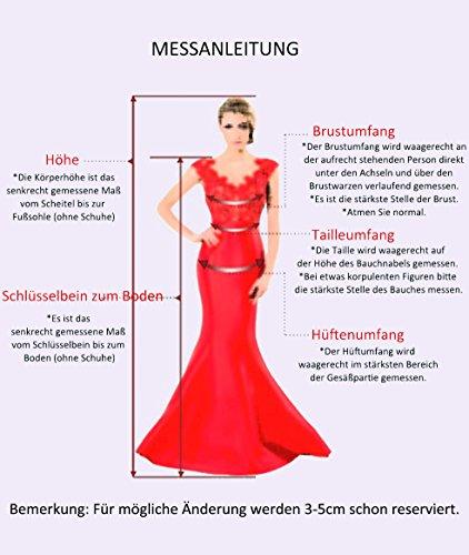 Trägerlos HUINI Abiball Falten Cocktailkleider Hochzeit Abendkleider Brautjungfernkleider Kurz Ballkleider Kleider Schulterfrei Chiffon Königsblau 51SqT1