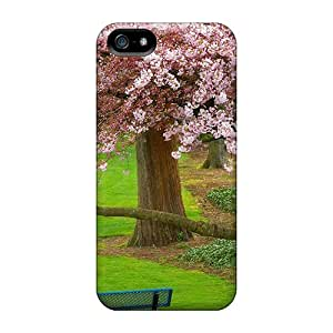 High-quality Durable Protection Case For Iphone 5/5s(cherry Tree Evergreen Park Washington)