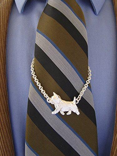 Sterling Silver Norwich Terrier Tie Chain by Bestk9buds