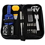 Ikee Design 13 Pcs Essential Watch Repair Tools Kit for Changing Batteries/wrist Band Link Removal