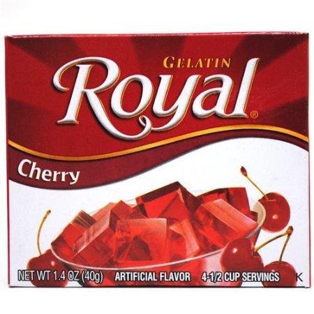 Royal Gelatin, Cherry 1.4oz 4-pack ()