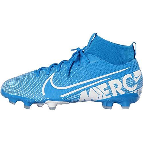 Nike Jr. Mercurial Superfly 7 Academy MG Kids' Multi-Ground Soccer Cleat (4.5, Blue Hero/Obsidian/White)