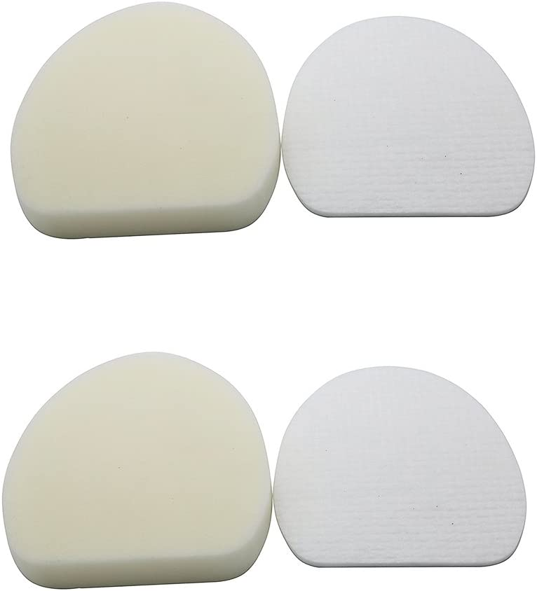 Green Label 2 Pack Replacement Foam and Felt Filter Kit XFF400 for Shark Rotator Professional Vacuum Cleaners. Fits: NV400, NV401, NV402