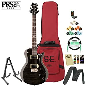 Paul Reed Smith SE Mark Tremonti Custom with Tremolo Electric Guitar - Includes: Tuner, Cable, Strap, Stand, Picks and Gig Bag