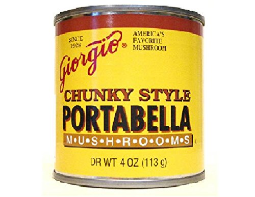 Portobello Mushroom (Giorgio Chunky Style Portabella Mushrooms (Pack of 3) 4 oz Cans (Dry Weight))