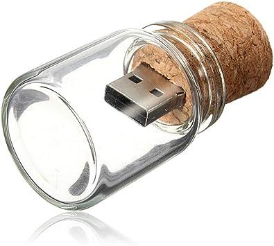 Pendrive 16GB Memoria USB Tarro USB 2.0 Pen Drive Botella de Deriva Transparente Flash Drives 16 GB Kepmem Novedad Memorias Externo Stick Linda Vaso Almacenamiento de Dato Regalo De Cumpleaños, Boda: Amazon.es: