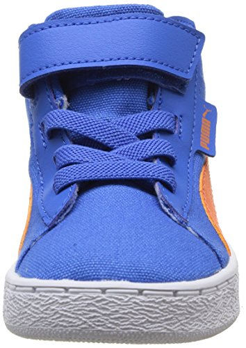 Cougar '48 Mi Toile Enfants - Enfant Élevé Baskets En Toile, Bleu (fort Bleu / Capucine), 22