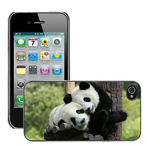 Premio Sottile Slim Cassa Custodia Case Cover Shell // V00002183 Panda // Apple iPhone 4 4S 4G