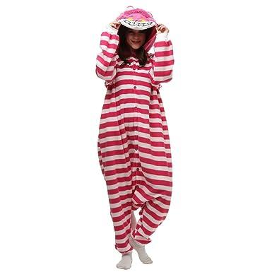 de6431fb2fff MIOLOE Adult Unisex Cheshire Cat Onesie Pajama Costume  Amazon.co.uk   Clothing