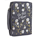 Be Still and Know Psalm 46:10 Floral Navy Blue