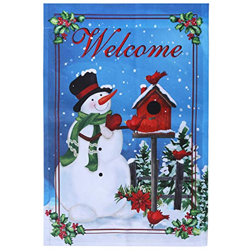 UPmagic Let It Snow Winter Double Sided Christmas Garden Flag, Snowman, Small (12 × 18)-Inches (s)