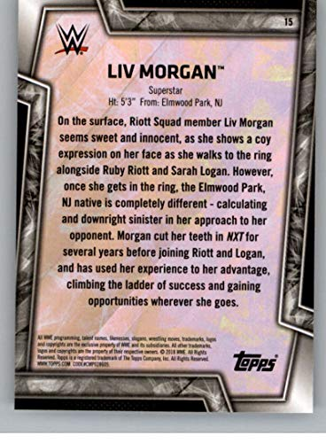 2018 Topps WWE Womens Division #15 Liv Morgan Wrestling Trading Card