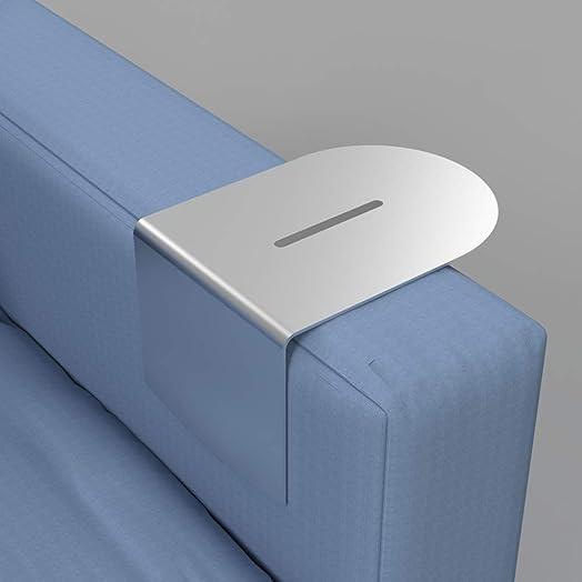 Wingz Table Modern Aluminum Armrest Table 5-7, Stainless Steel Slot Cover