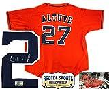 Jose Altuve Autographed/Signed Houston Astros Orange Custom Jersey