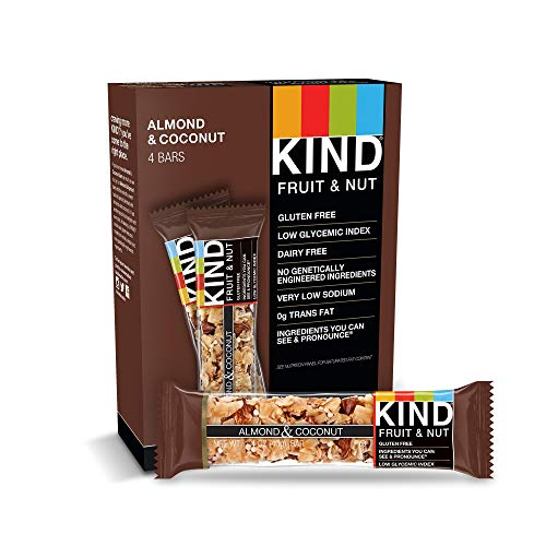 Coconut Toasted Bar Diet - KIND Bars, Almond & Coconut, Gluten Free, 1.4 Ounce Bars, 4 Count