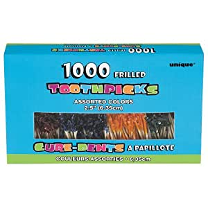 Frilly Cocktail Toothpicks, Assorted 1000ct