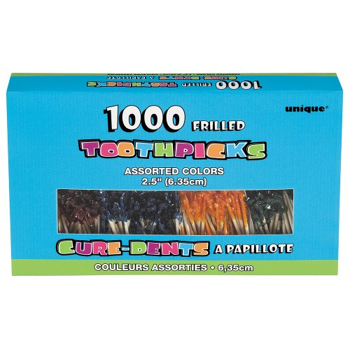 Frilly Cocktail Toothpicks Assorted 1000ct