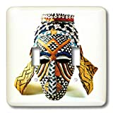 3dRose lsp_877_2 African Mask - Double Toggle Switch