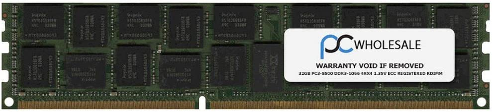 HP Compatible 32GB PC3-8500 DDR3-1066 4Rx4 1.35v ECC Registered RDIMM Certified Refurbished HP PN# 628975-081