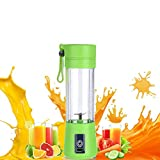 JHDLY Electric Juice Cups,Mini Fruit Juice Extractor, Personal Blender Juicer Bottle ,Electric Rechargeable USB Juicer Cup, Fruit Mixing MachineUSB Charging Sport Juice Maker Mixer Cup380ml with Cab