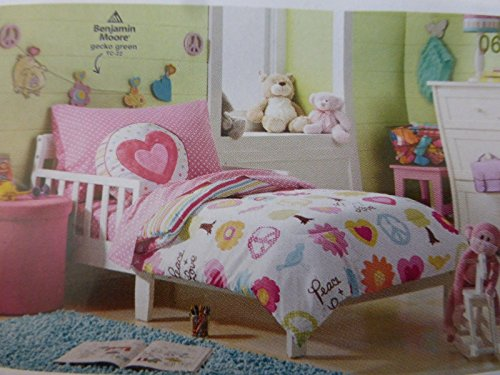 Circo Peace Girl 4 Piece Toddler Bed Set, used for sale  Delivered anywhere in USA
