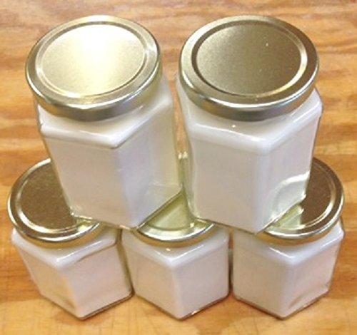 5 Pack 12 oz Squat Hex Soy Candle 12 Oz Hex Jar