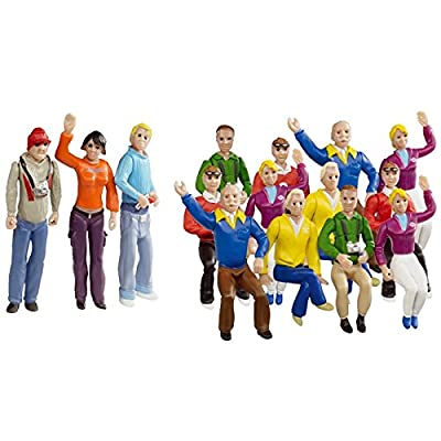 Carrera Race Spectators - Set of 15 Detailed Fans - 1:32 Scale Figures - Realistic Scenery Accessory for Slot Car Track Sets: Toys & Games