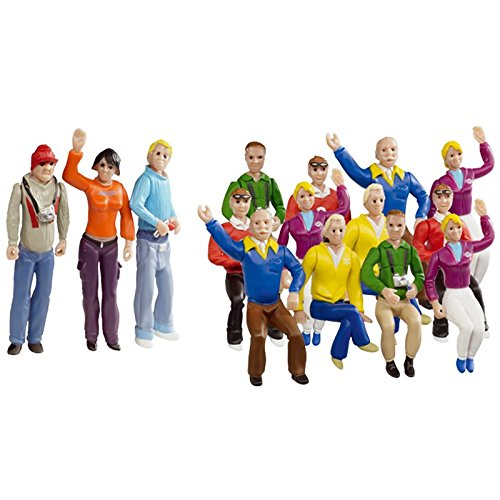 Carrera Race Spectators - Set of 15 Detailed Fans - 1:32 Scale Figures - Realistic Scenery Accessory for Slot Car Track Sets