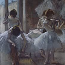 Dancers, Edgar Degas. Ruled journal: 150 Lined / ruled pages, 8,5 x 8,5 inch (21.59 x 21.59 centimeters) Laminated.  (Paper notebook, composition book)