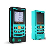 Mileseey S9 60m/198ft Handheld Blue Laser Distance Meter Rangefinder Range Tester with Bubble Level Tape Measure Accuracy +-1.5mm