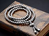 (US) Phoenix Outdoor Self Defense 108 Buddha Beads Necklace Chain (Full Stainless Steel)