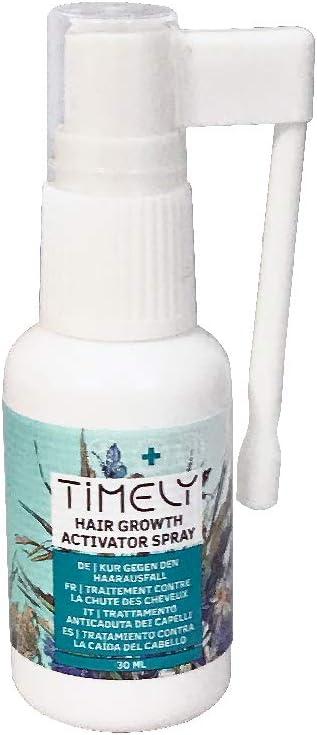 Timely - Spray activador del crecimiento capilar para prevenir la caída del cabello y acelerar su crecimiento, 30 ml