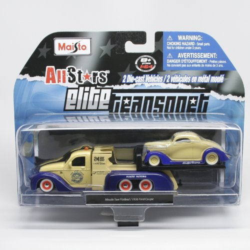 Missile Tow Flatbed (Yellow & Blue) / 1936 Ford Coupe (Ye...