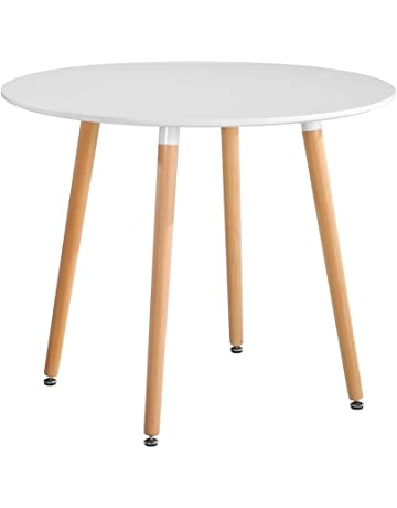 2e8df17721 GOLDFAN Wood Eiffel Dining Table Modern Round Kitchen Table Coffee Table  with Natural Beech wood Legs