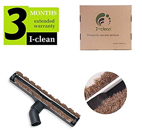 I-clean Universal Floor Brush for 32mm (1 1/4 inch) Standard Hose,Replacement Vacuum Cleaner Attachments Horse Hair (Wood Floor Cleaning Tools)